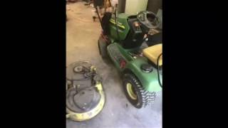 Installing A Mower Deck Timing Belt On John Deere Freedom 42 on LT155