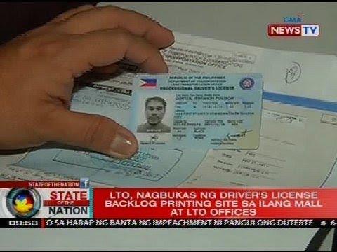 Lto Nagbukas Ng Drivers License Backlog Printing Site Sa Ilang Mall At Lto Offices