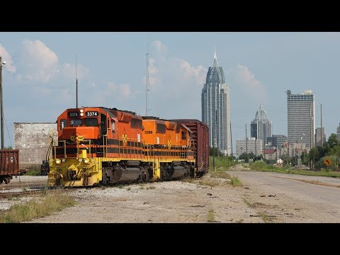 Railfanning Mobile, Alabama & Alabama & Gulf Coast Railway! 20 July 2017