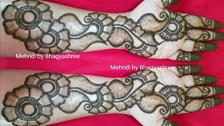 EASY MEHENDI DESIGNS | VERY BEAUTIFUL SHADED LATEST FLORAL ARABIC HENNA MEHNDI DESIGN FOR FRONT HAND