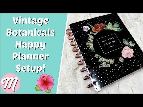 🌺 Vintage Botanicals Deluxe 18 Month Happy Planner Classic Setup!