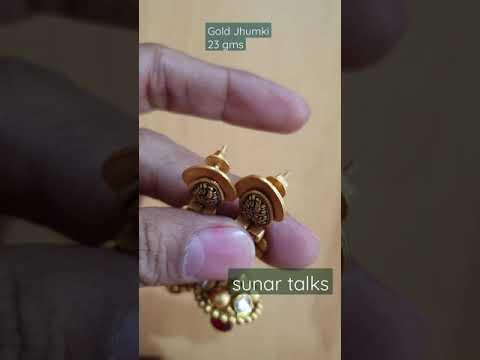 new jhumka design/antique gold jewellery/latest jhumki design /jewellery trends