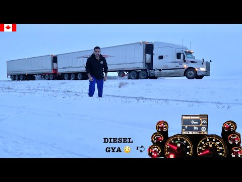 What PROBLEM a Canadian Truck Driver Face In PETERBILT | Winnipeg To Calgary