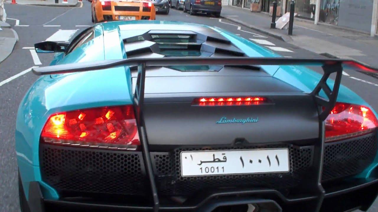 Turquoise Baby Blue Lamborghini Murcielago Lp670 4sv Big