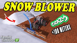 Farming Simulator 17: +100 METERS FANTASTIC SNOW BLOWER !!! MEGA SNOW SWATH 😀😜