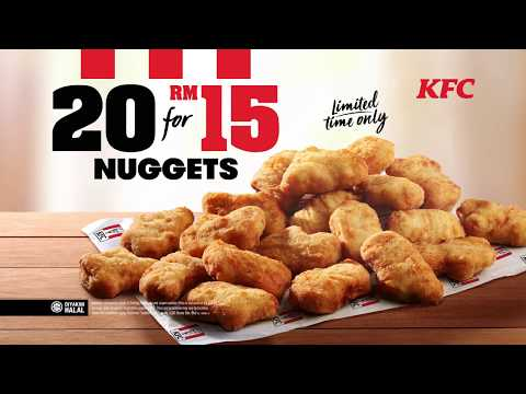 KFC 20 Nuggets For RM15