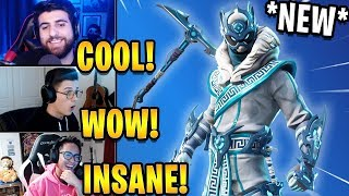 Streamers React to *NEW* Snow Star Skin & Inverted Blade Pickaxe! | Fortnite Highlights