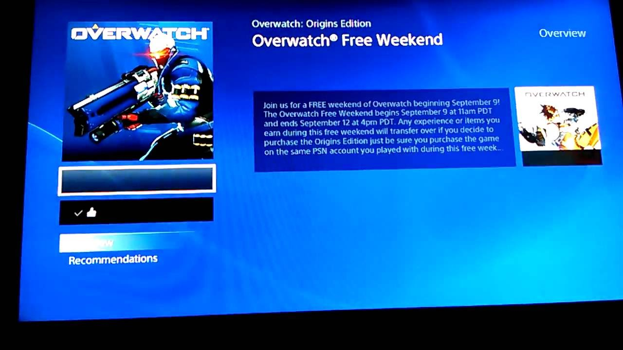 How to get Overwatch for FREE ON PS4 (fast easy)
