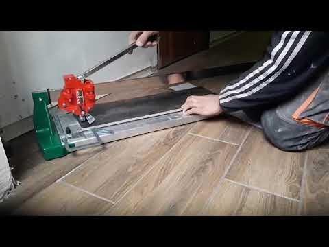 Різ керамограніту 12 мм плиткорізом Nuova Battipav SUPER PRO EVO 125 резка керамогранита плиткорезом