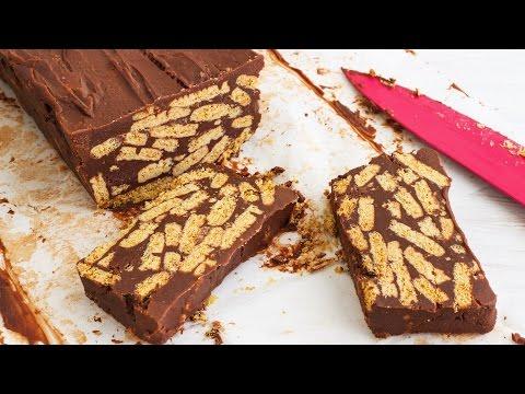 No Bake Chocolate Biscuit Cake Recipe | HappyFoods