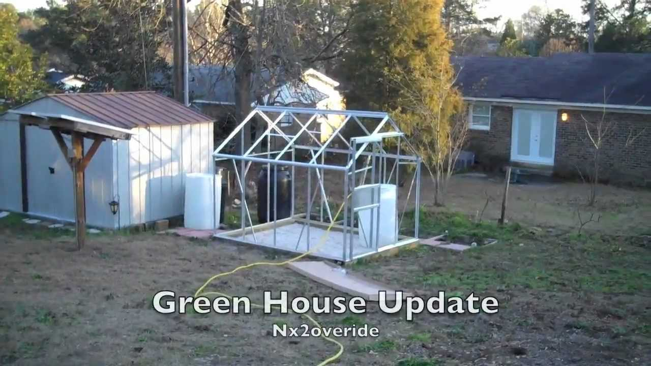 Harbor Freight 6x8 Greenhouse : New harbor freight greenhouse update youtube