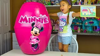 Biggest Minnie Toys Surprise Egg with Kinder Eggs!