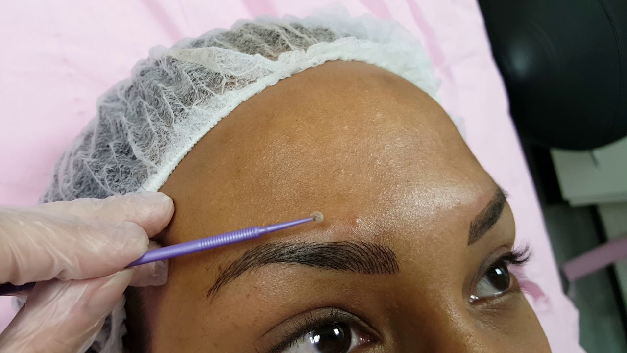 Dark Skin Defined Eyebrows PMU by El Truchan @ Perfect Definition