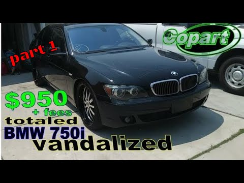 I bought a totaled BMW 750i from copart auto auction. part 1