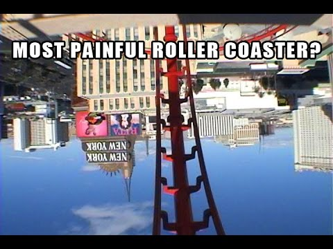 Manhattan Express POV - Most Painful Roller Coaster?