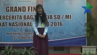 Juara II Lomba Bercerita Siswa SD/MI Tingkat Nasional 2016