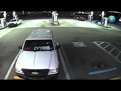 Man attacks woman at Sarasota gas station (video provided by Sarasota County Sheriff's Office)