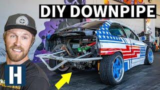 Custom Blast Pipe for our SR20 Powered Sh*tcar BMW E36