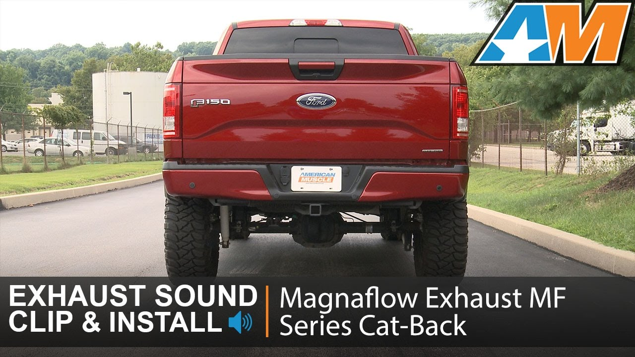2015-2016 F-150 (5 0L) Magnaflow Exhaust Sound Clip MF Series Cat-Back -  Before Rear Tire Review