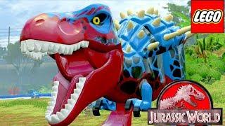 ЛЕГО мультик про динозавров Парк Юрского Периода НАПАДЕНИЕ НА ЛАГЕРЬ  11 серия #игровой мультфильм