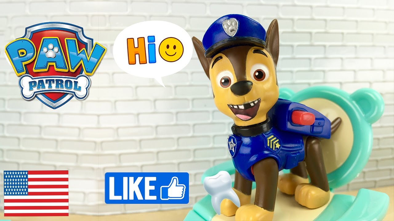 Paw Patrol At Dentist Chase Loses A Tooth Tooth Fairy La Pat Patrouille Hvolpasveitin 狗狗巡逻队 中国