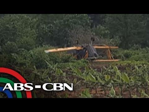 Spray plane, bumagsak sa banana plantation