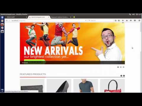 How to Install Zeuscart shopping cart software on Ubuntu 14