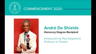 André De Shields Receives Honorary Doctor of Arts Degree - Boston Conservatory of Music at Berklee
