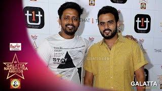 Mirchi Sha and Vijay ragalai in the Red Carpet | Galatta Nakshatra Awards
