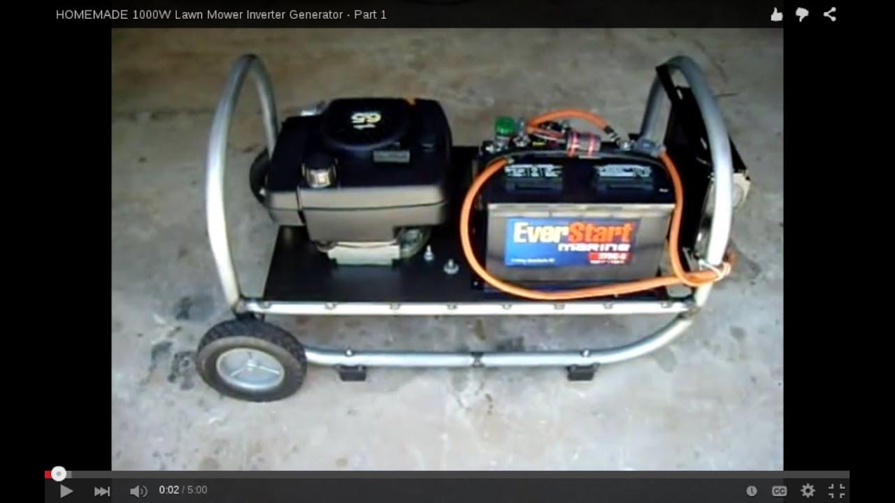 HOMEMADE W Lawn Mower Inverter Generator Part 1 YouTube