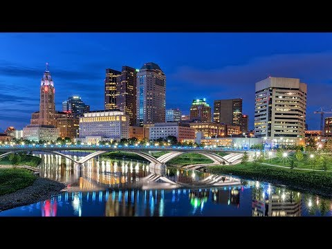 COLUMBUS OHIO🇺🇸AERIAL VIEW  SCIOTO MILE