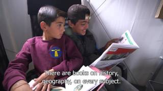 A library in Greece opens a new chapter in refugees' lives