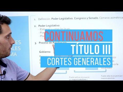 Las Cortes Generales [CLAVES DE EXAMEN]