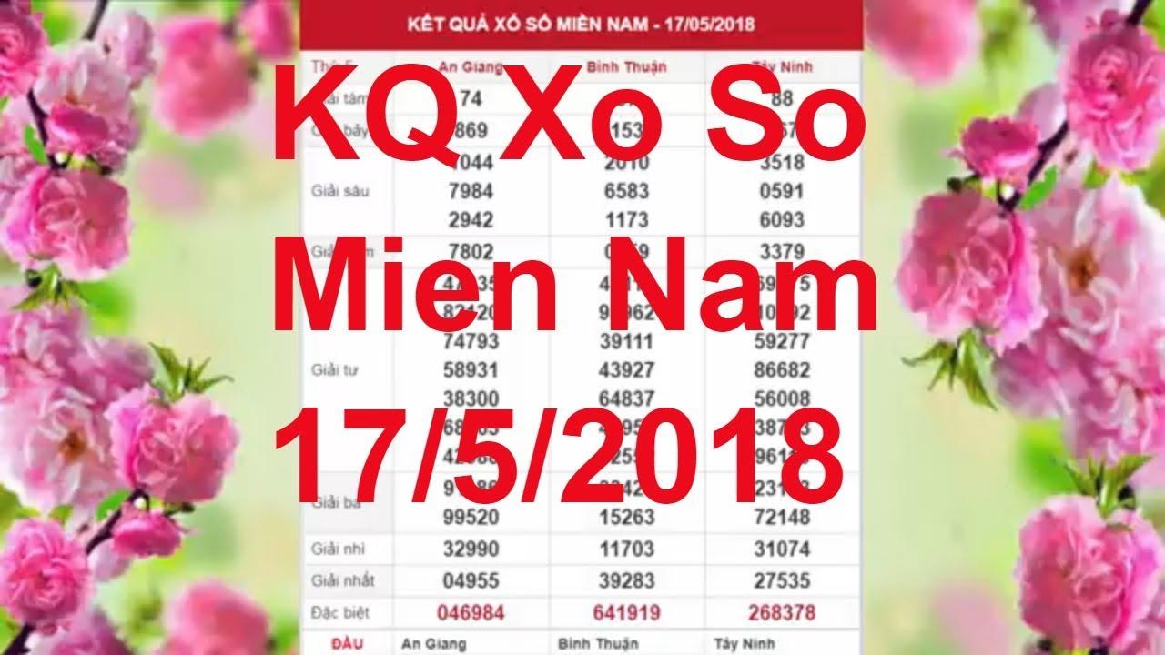 Xo so mien nam truc tiep hom nay | XS Mien Nam 14/5/18 ...