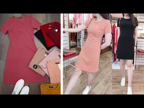 Style Basic Chuẩn Hàn Quốc - Đầm Suông Nhẹ Chữ A