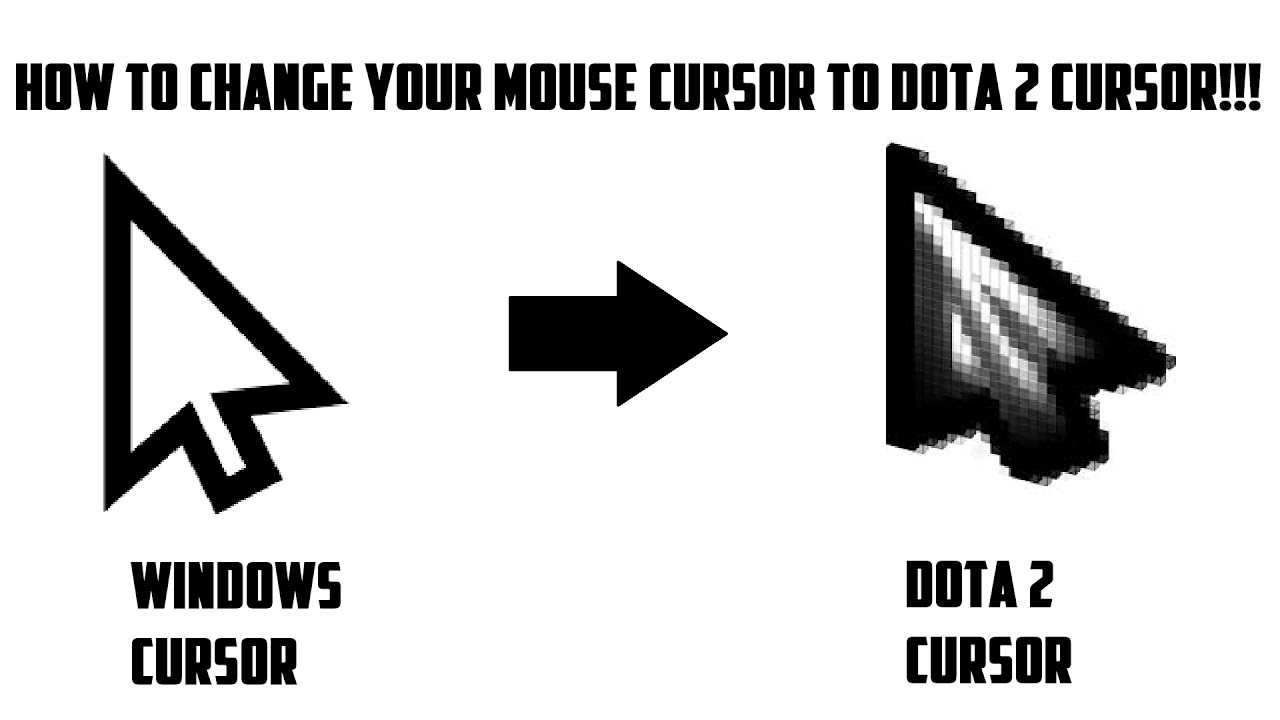 How To Change Your Mouse Cursor to Dota 2 Cursor