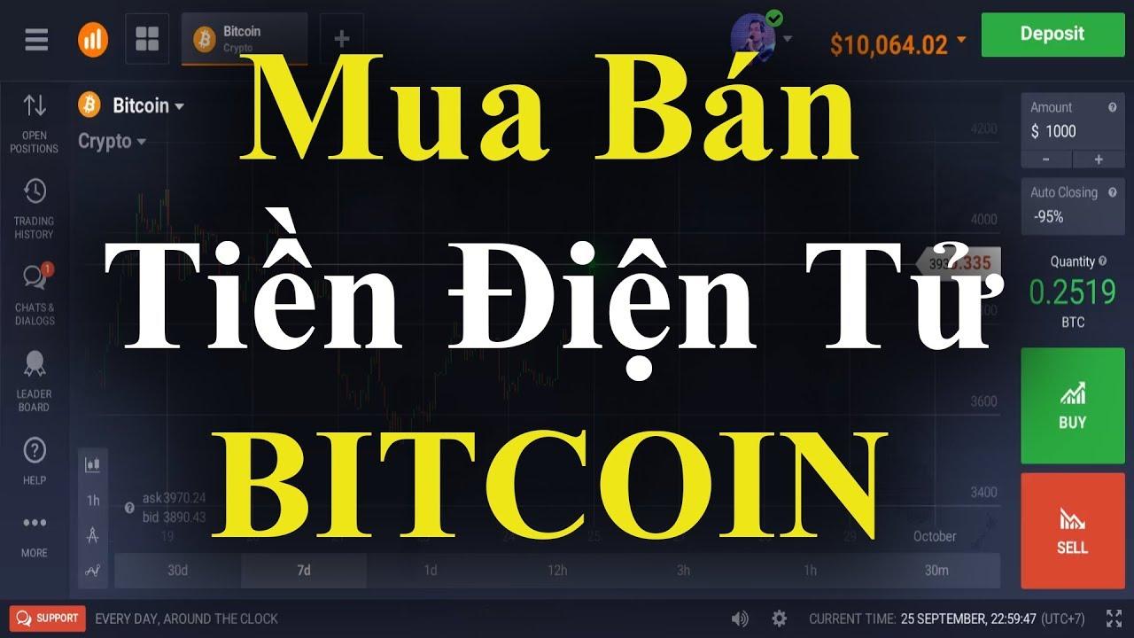 Mua Bán Tiền Ảo / Tiền Điện Tử (Bitcoin, Etherium, OmiseGO, LiteCoin,…) Trên IQ Option