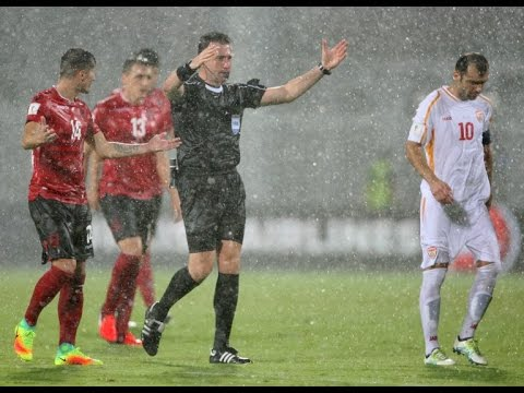 World Cup Qualifiers 2018 Albania vs Macedonia group G match interrupted for Heavy Rain
