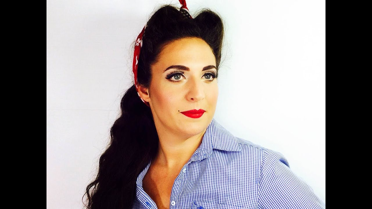 50s style hair and makeup 50s pin up hair amp makeup tuorial 1200