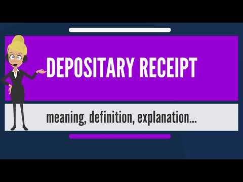 What is DEPOSITARY RECEIPT? What does DEPOSITARY RECEIPT mean? DEPOSITARY RECEIPT meaning