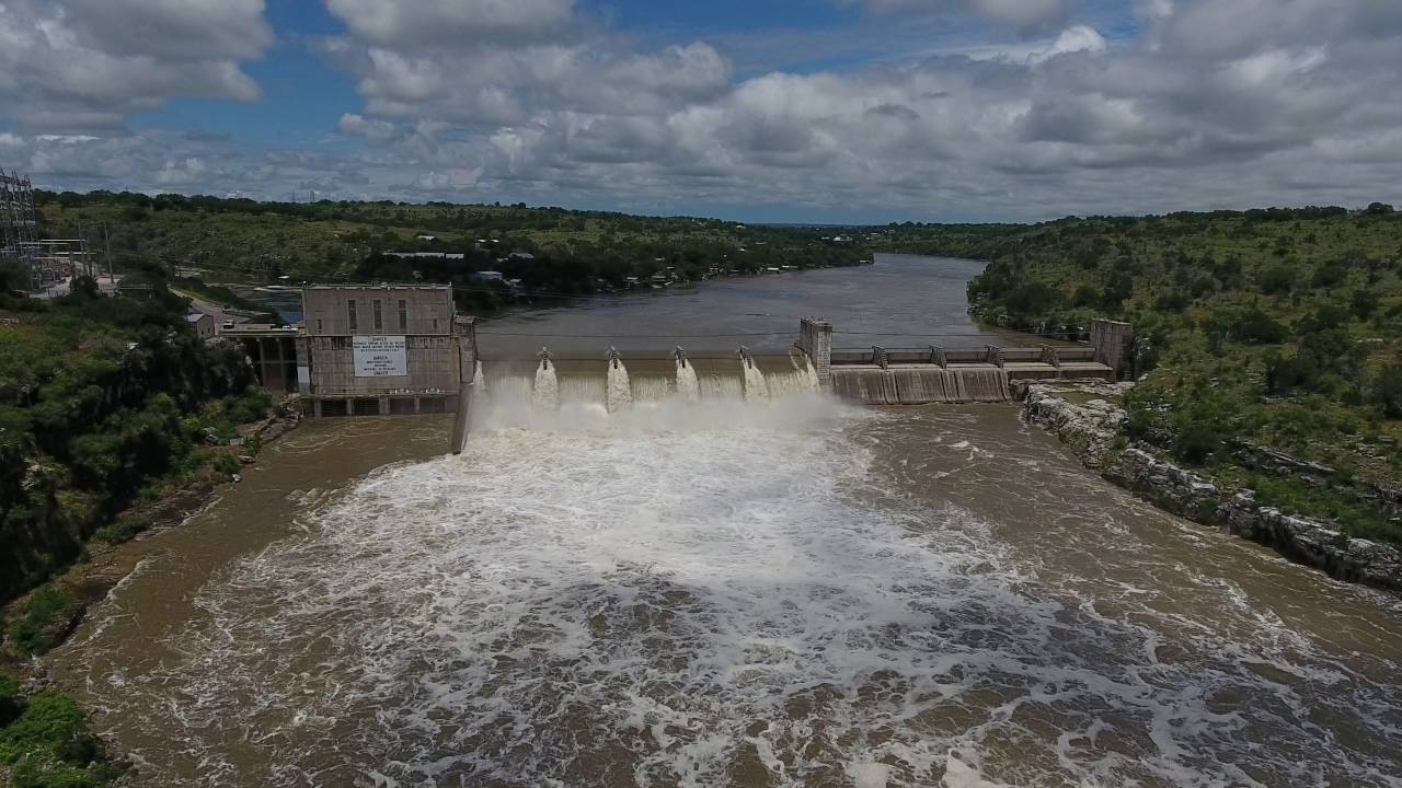 Max Starcke Dam Marble Falls Texas 5 Gates Open In 4k