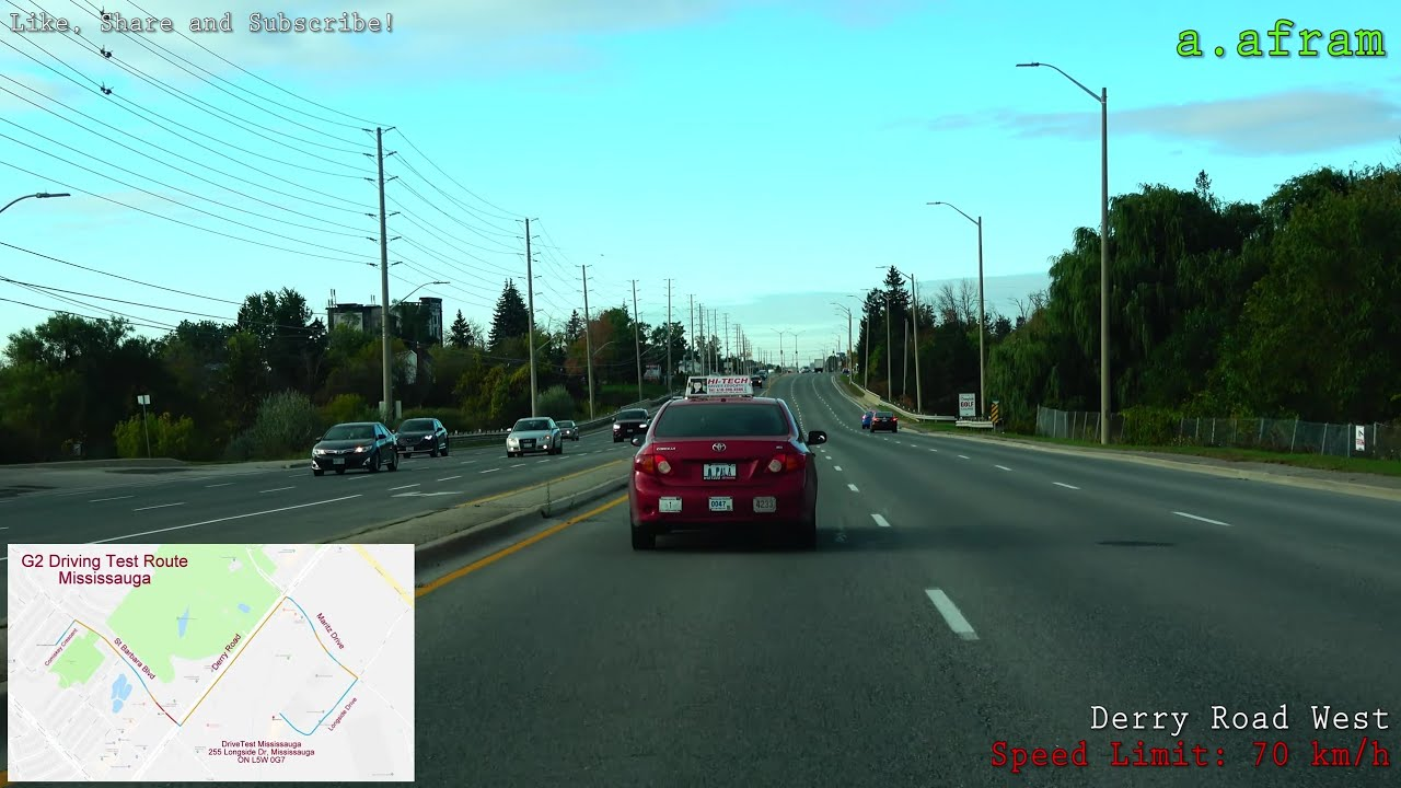 Newmarket Drive Test Centre >> 4k G2 Test Drivetest G1 Exit Driving Test Route Mississauga Ontario Canada