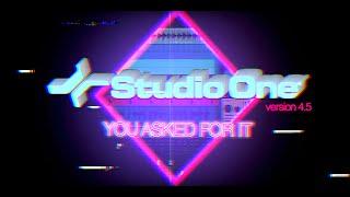 Introducing Studio One 4.5