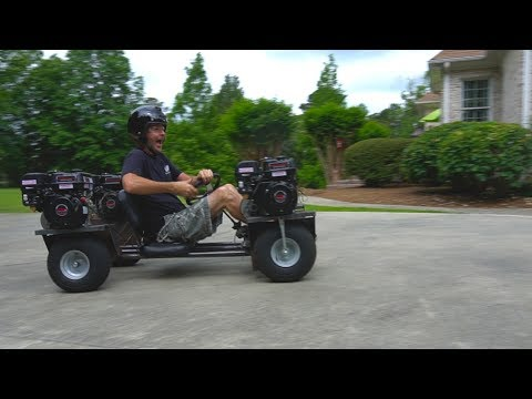 AWD 4-Engine Go Kart RUNS: Rear Engines & Gussets