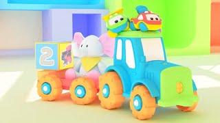 Би-Би Знайки – Все серии про цифры от 1 до 10  - сборник - мультфильм про машинки – учим цифры