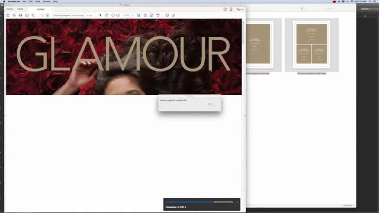 multi page pdf from photoshop