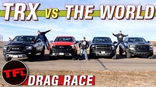 Rebel vs. Silverado vs. Raptor vs. TRX: The World's Sickest Off-Road Truck Drag Race!