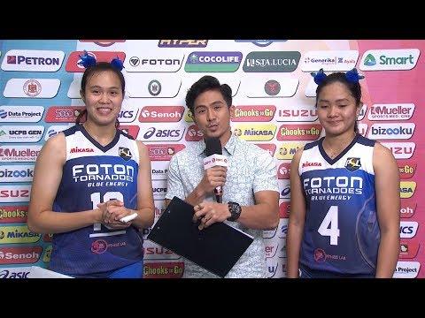 Match MVPs: Maika Ortiz and Mina Aganon  PSL AllFilipino Conference 2018