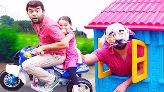 Öykü and Dad funny GRANDPA fun kid video Oyuncak Avı