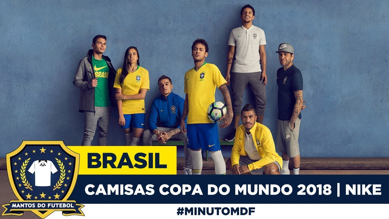 8a0ed59d85 Camisas do Brasil Copa do Mundo 2018 Nike - YouTube